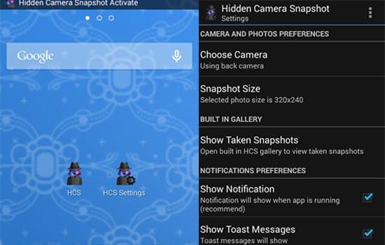 Aplikasi Hidden Camera Snapshot