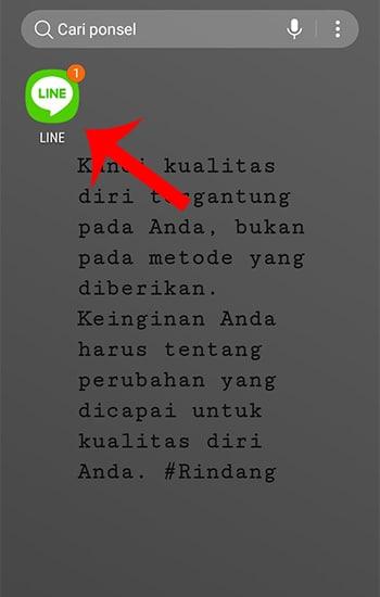 Buka Aplikasi LINE