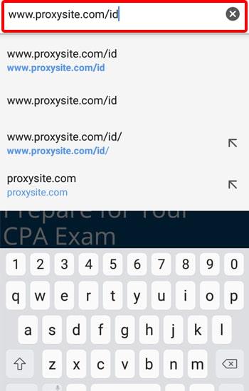 Buka situs ProxSite