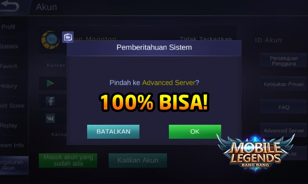 Cara Masuk Advanced Server Mobile Legends (100% Bisa) 4