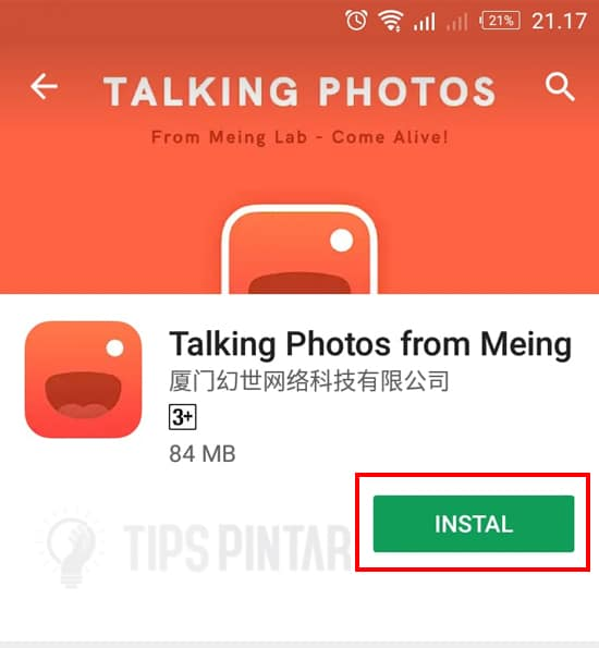 Install Aplikasi Talking Photos