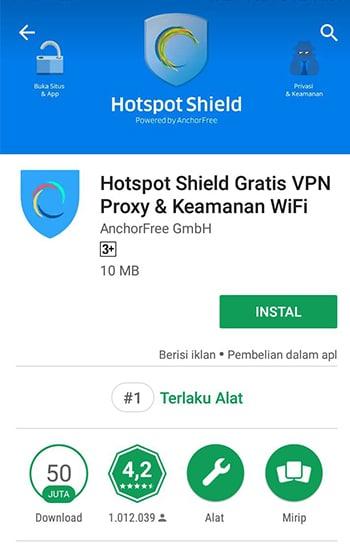 Install Hotspot Shield