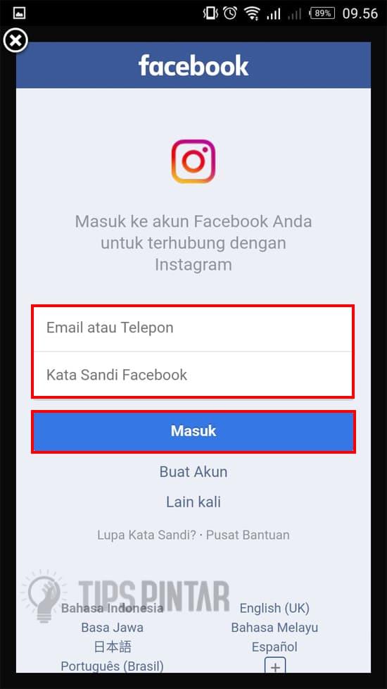 Masukan Facebook