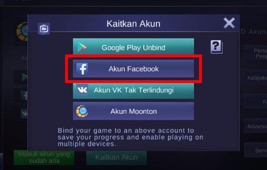 Pilih Facebook
