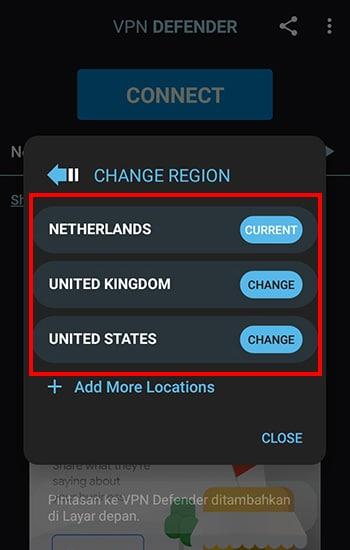 Pilih IP Address dari Negara Mana
