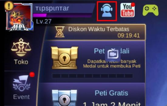 Pilih Icon Bantuan