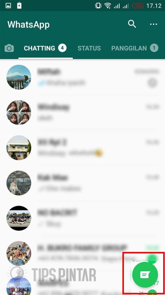 Pilih Icon Chat Baru