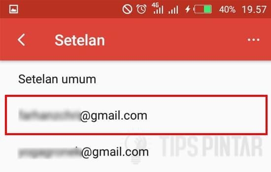 Pilih Salah Satu Akun Gmail