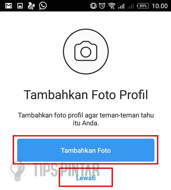 Tambahkan Foto Profil