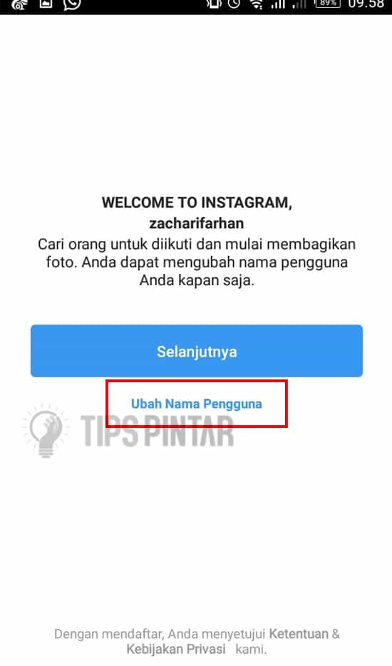 Ubah Nama Pengguna