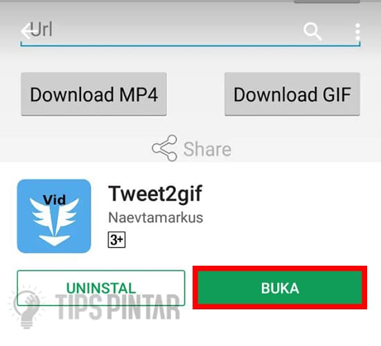 Buka Aplikasi Tweet2gif