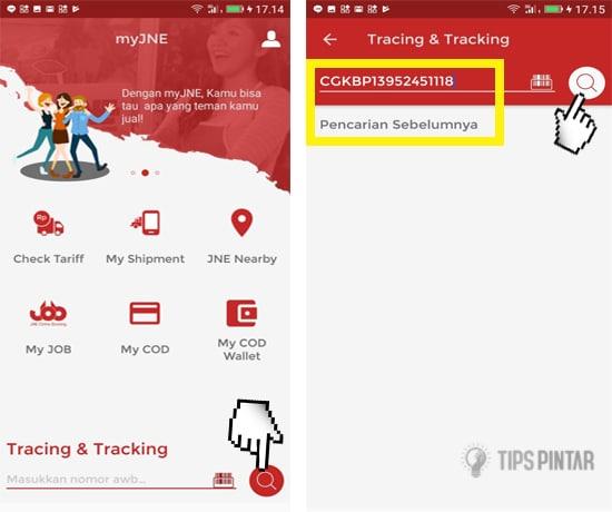 Cara Cek Nomor Resi JNE di Smartphone Android 4