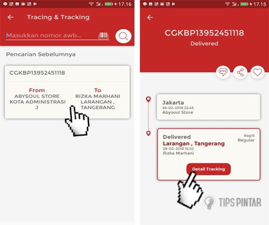 Cara Cek Nomor Resi JNE di Smartphone Android 5