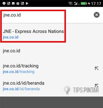 Cara Cek Nomor Resi JNE di Smartphone Android 7
