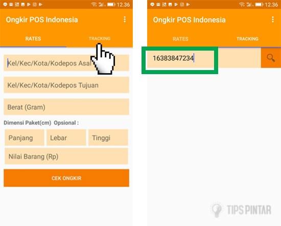 cara cek resi pos indonesia
