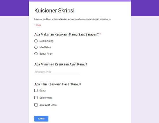 Cara Membuat Google Formulir (Formulir Online) Paling Mudah 17