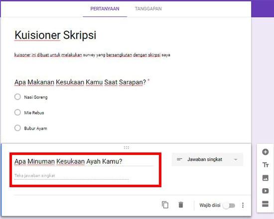 Cara Membuat Google Formulir (Formulir Online) Paling Mudah 13
