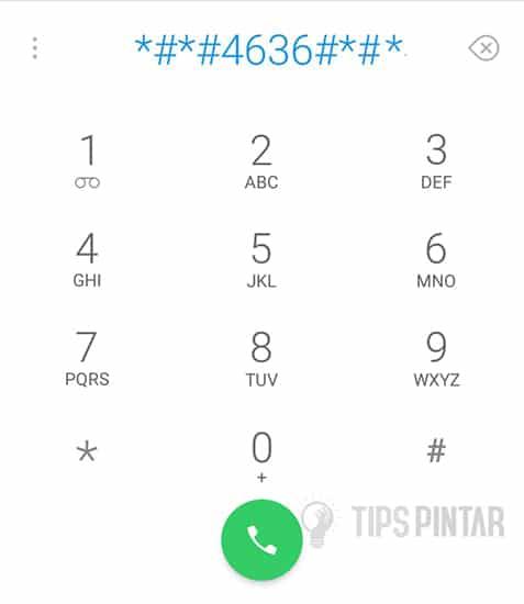 Dial Nomor *#*#4636#*#*
