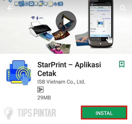 Install Aplikasi StarPrint
