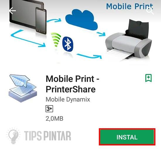 Install Aplikasi Print Share