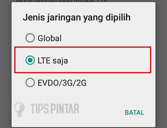 Pilih LTE Saja