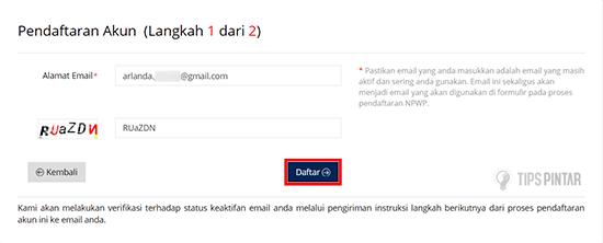 Masukan Alamat Email