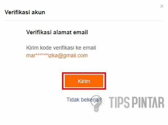 Mengirim Kode Verifikasi