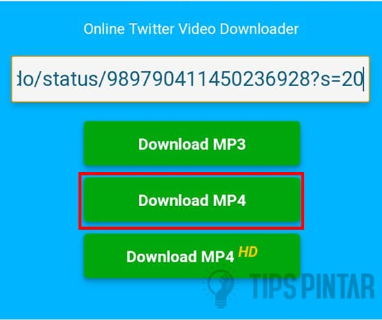 Paste lalu Download Video