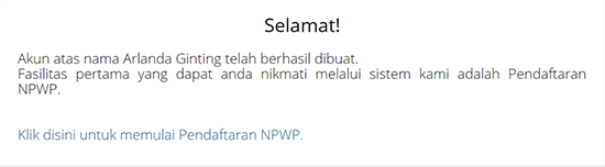 Daftar NPWP
