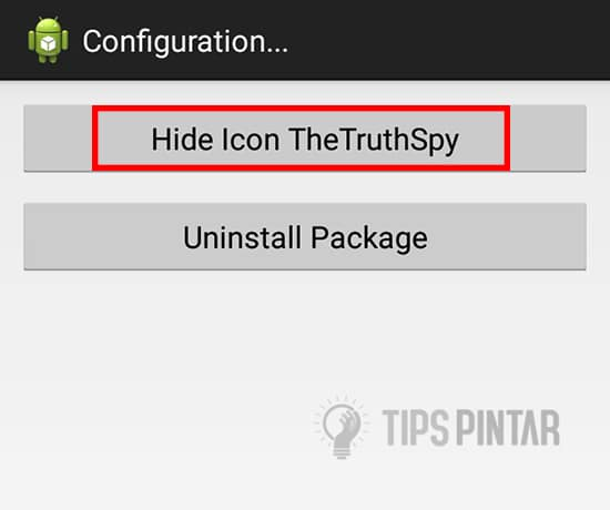 Pilih Hide Icon TheTruthSpy