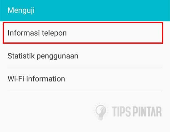 Pilih Informasi Telepon
