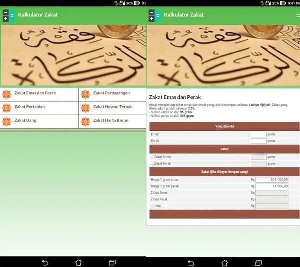 Aplikasi Kalkulator Zakat