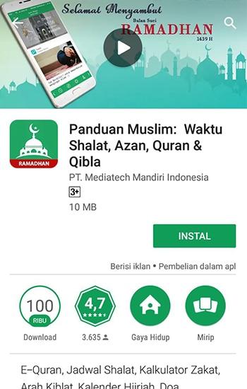 Install Panduan Muslim