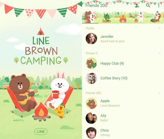 LINE Camping
