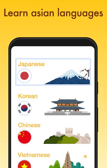 Learn Japanese, Korean, Chinese Offline & Free
