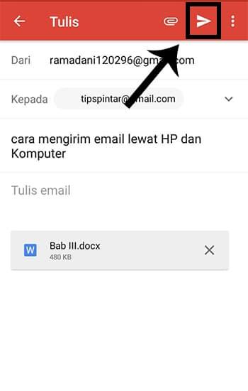 Mengirim File Lampiran