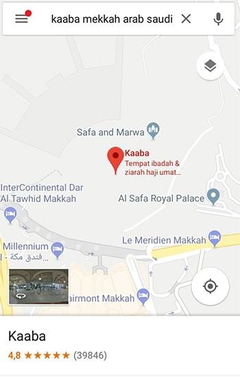 Pastikan Lokasi Kaaba