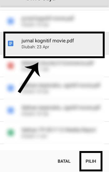 Pilih File Google Drive