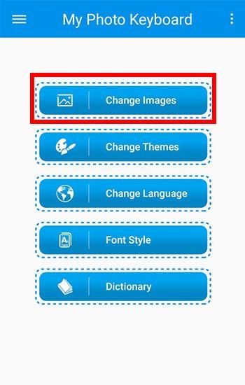 Pilih Menu Change Images