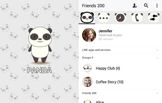 Simple Cute Panda Theme