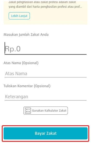 Tombol Bayar Zakat