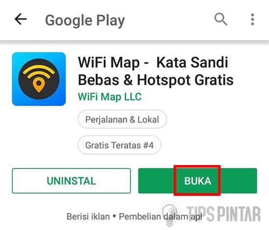 Buka Aplikasi WiFi Map