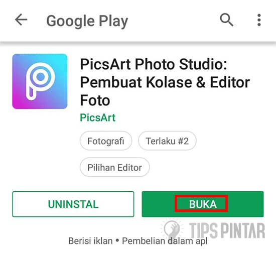 Buka Aplikasi PicsArt