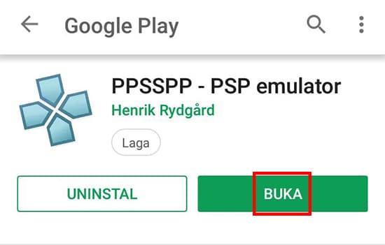 Buka Aplikasi PPSSPP