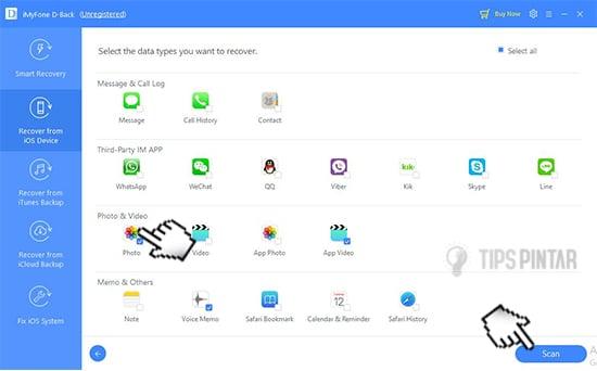 cara mengembalikan data yang hilang di iphone