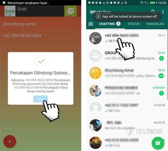 cara mengunci chat di whatsapp