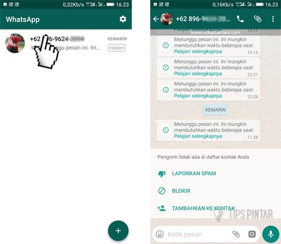 cara menyembunyikan chat whatsapp tanpa arsip