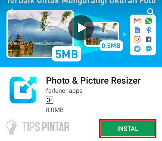 Install Aplikasi Photo & Picture Resizer