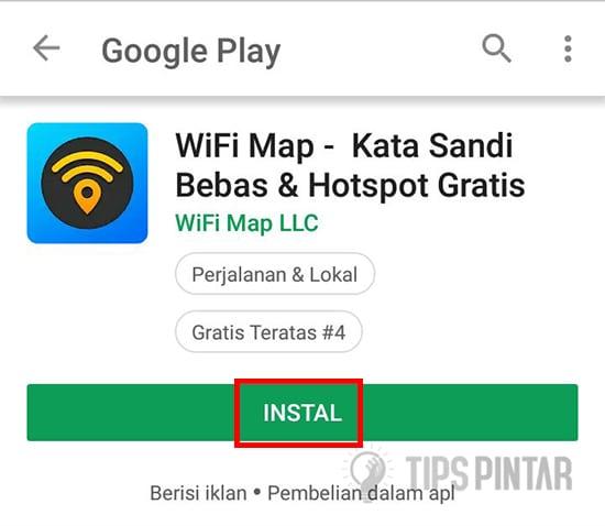 Install Aplikasi WiFi Map