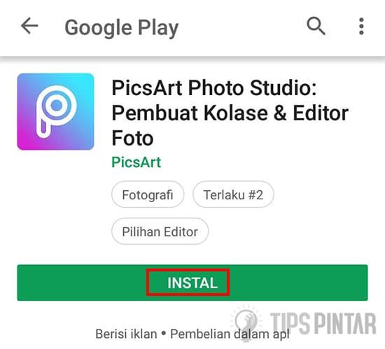 Install Aplikasi PiscArt